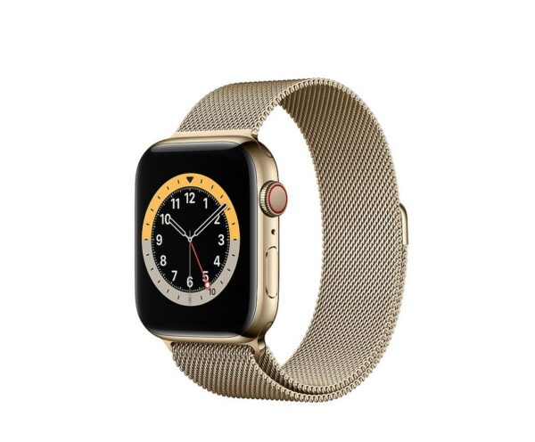 WATCH SERIE 6 CELL 40MM ACCIAIO ORO - LOOP MAGLIA MILANESE