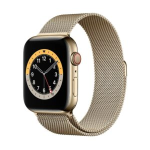 WATCH SERIE 6 CELL 44MM ACCIAIO ORO - LOOP MAGLIA MILANESE