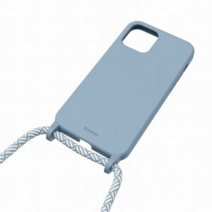 HANG ON - CUSTODIA BLU NORDICO CON CORDINO PER IPHONE 12 MINI