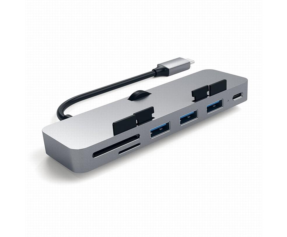 PRO HUB USB-C ALLUMINIO CON AGGANCIO PER IMAC E IMAC PRO SPACE GRAY