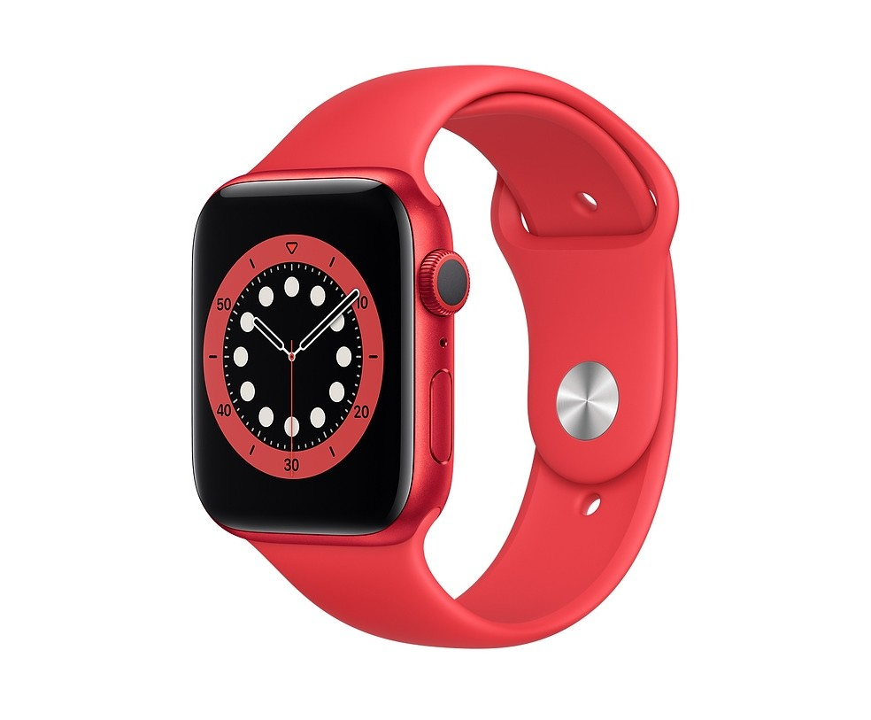 WATCH SERIE 6 GPS 44MM ALLUMINIO (RED) - CINTURINO SPORT (RED)