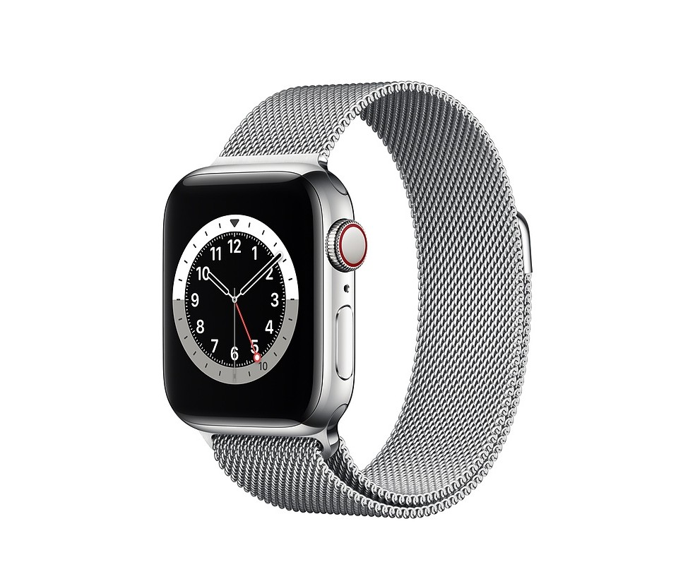 WATCH SERIE 6 CELL 40MM ACCIAIO - LOOP MAGLIA MILANESE