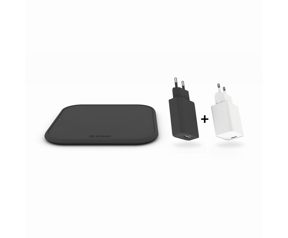 IPHONE STARTER PACK - 10W WIRELESS CHARGER QC 3.0 & ALIM. USB-C PD 18W