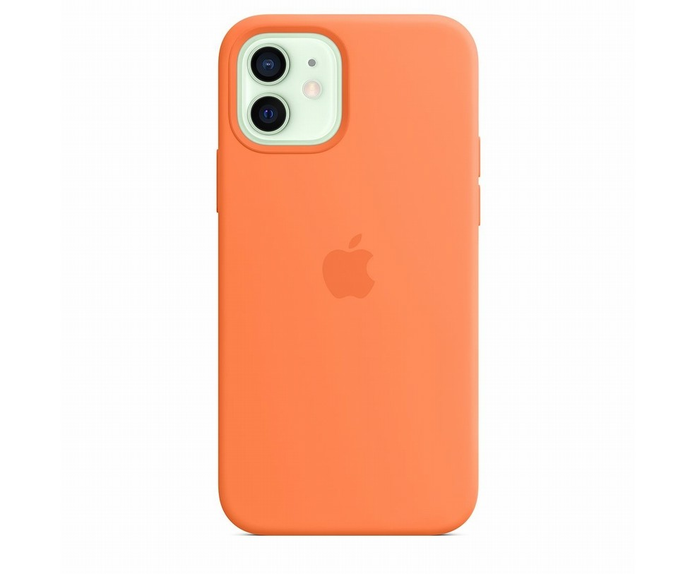 CUSTODIA APPLE MAGSAFE IN SILICONE PER IPHONE 12/12 PRO - KUMQUAT